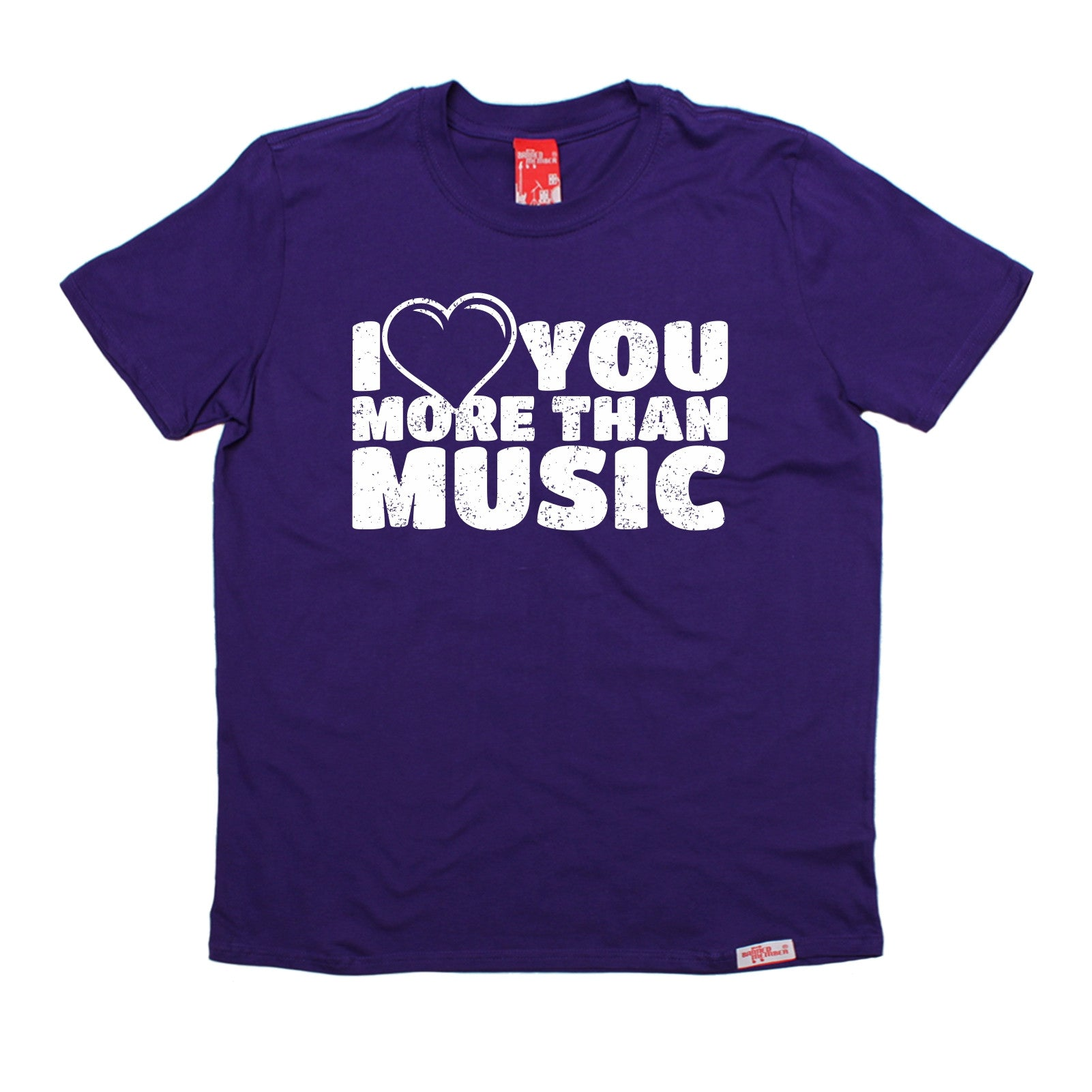 Love You More Than Music T-SHIRT Wife Husband Boyfriend