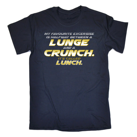 123t Men's My Favourite Lunge Crunch Lunch Funny T-Shirt, 123t