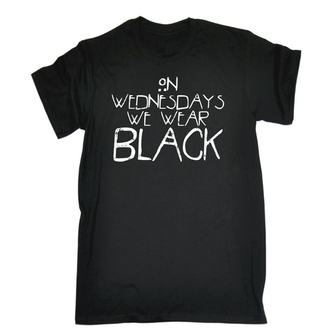 123t Men's On Wednesdays We Wear Black T Shirt Funny 123t Tee