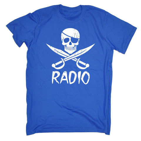 123t Men's Pirate Radio Funny T-Shirt