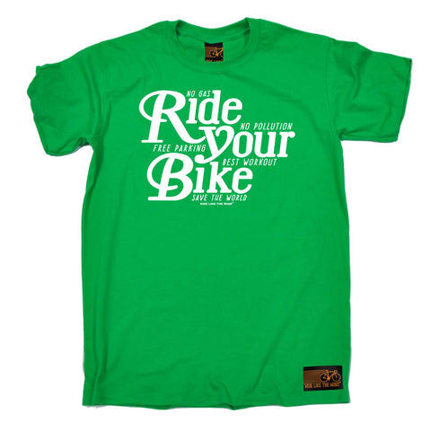 Ride Like The Wind Mens - Ride Your Bike - Cycling T-SHIRT