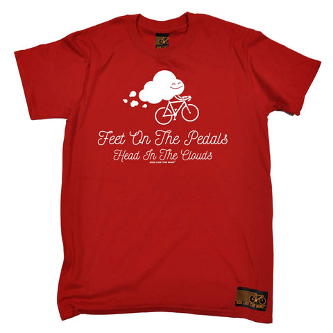 Ride Like The Wind Mens - Feet On The Pedals - Cycling T-SHIRT