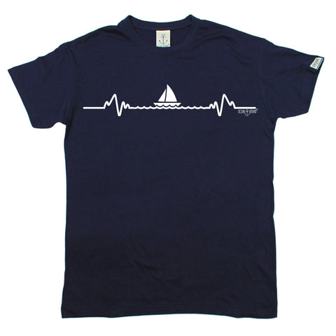 Ocean Bound Men's Sailing Pulse Design Sailing T-Shirt
