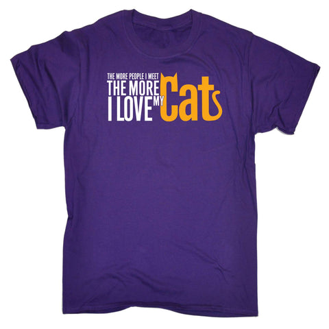 123t Mens - The More People The More Love Cats - T-SHIRT