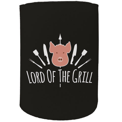 123t Stubby Holder - Lord Of The Grill Bbq Cooking Chef - Funny Novelty Birthday Gift Joke Beer