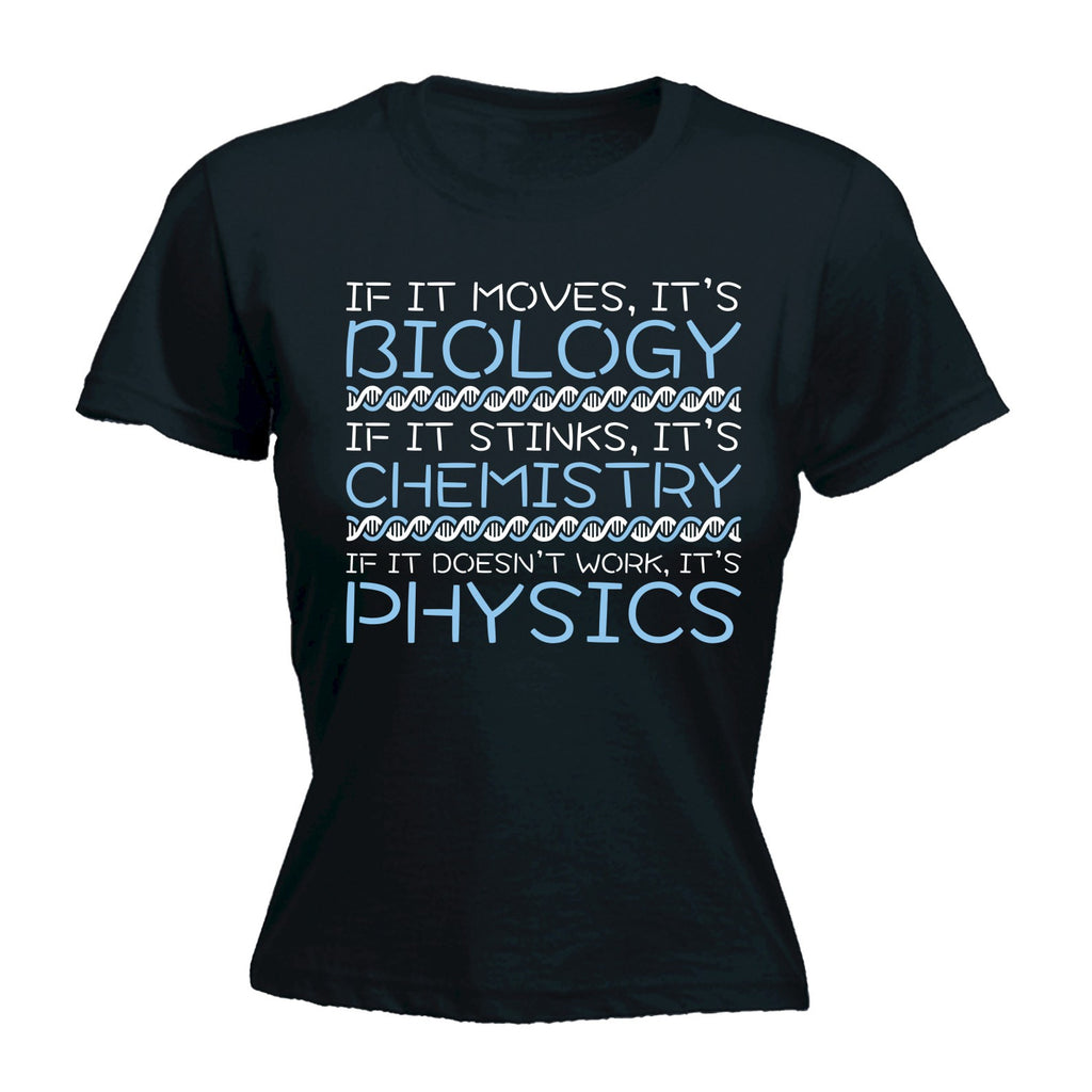 123t Women's Biology Chemistry Physics - FITTED T-SHIRT