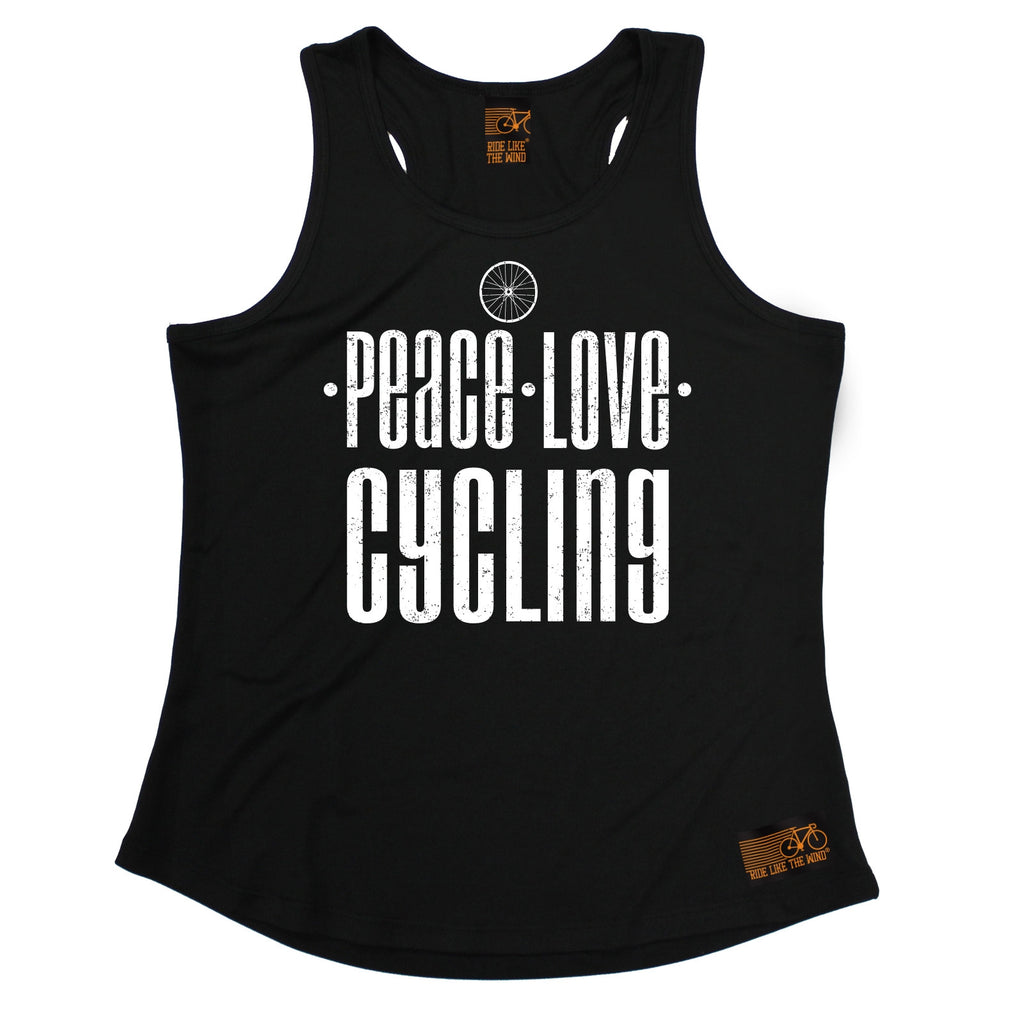 Ride Like The Wind Peace Love Cycling Girlie Training Vest