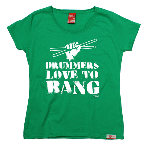 Banned Member Women's Drummers Love To Bang Drumming T-Shirt