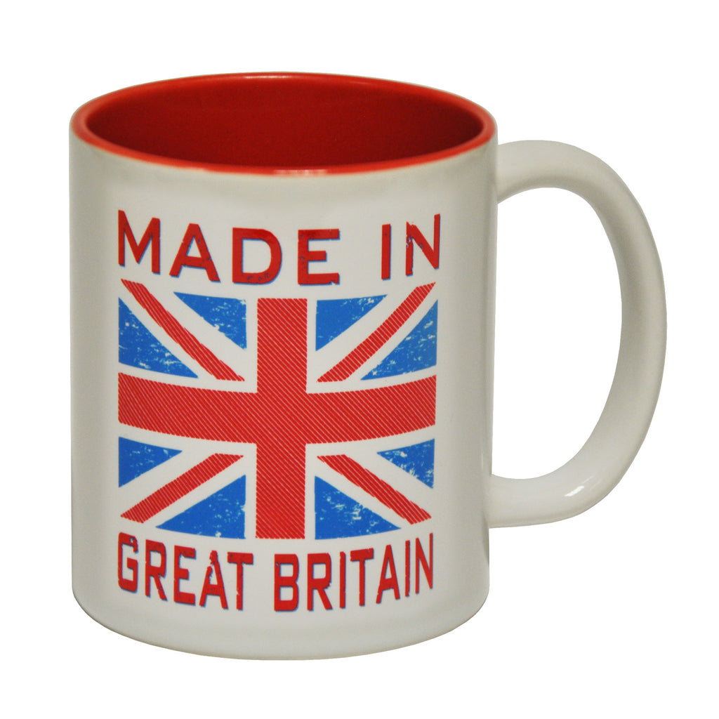 123t Made In Great Britain Flag Funny Mug