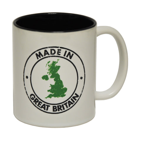 123t Made In Great Britain Map Funny Mug