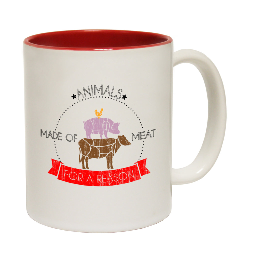 123t Animals Made Of Meat For A Reason Funny Mug, 123t Mugs