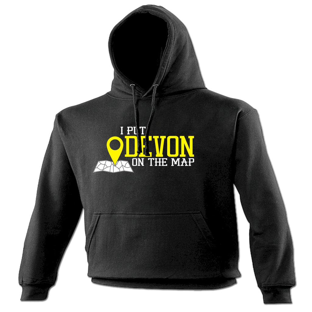 123t I Put Devon On The Map Funny Hoodie