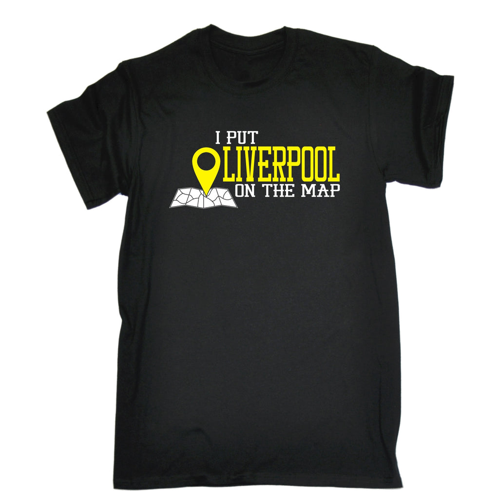 123t Men's I Put Liverpool On The Map Funny T-Shirt