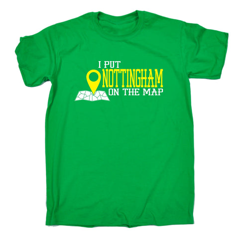 123t Men's I Put Nottingham On The Map Funny T-Shirt, 123t