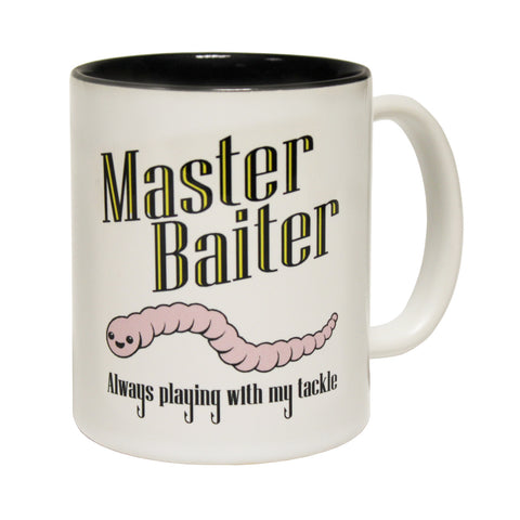 Drowning Worms Master Baiter Fish Funny Fishing Mug