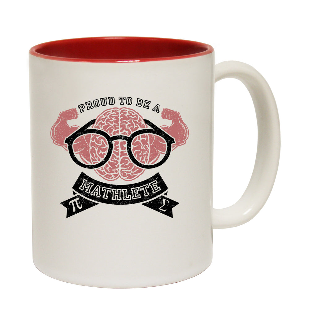 123t Proud To Be Mathlete ... Strong Brain Funny Mug