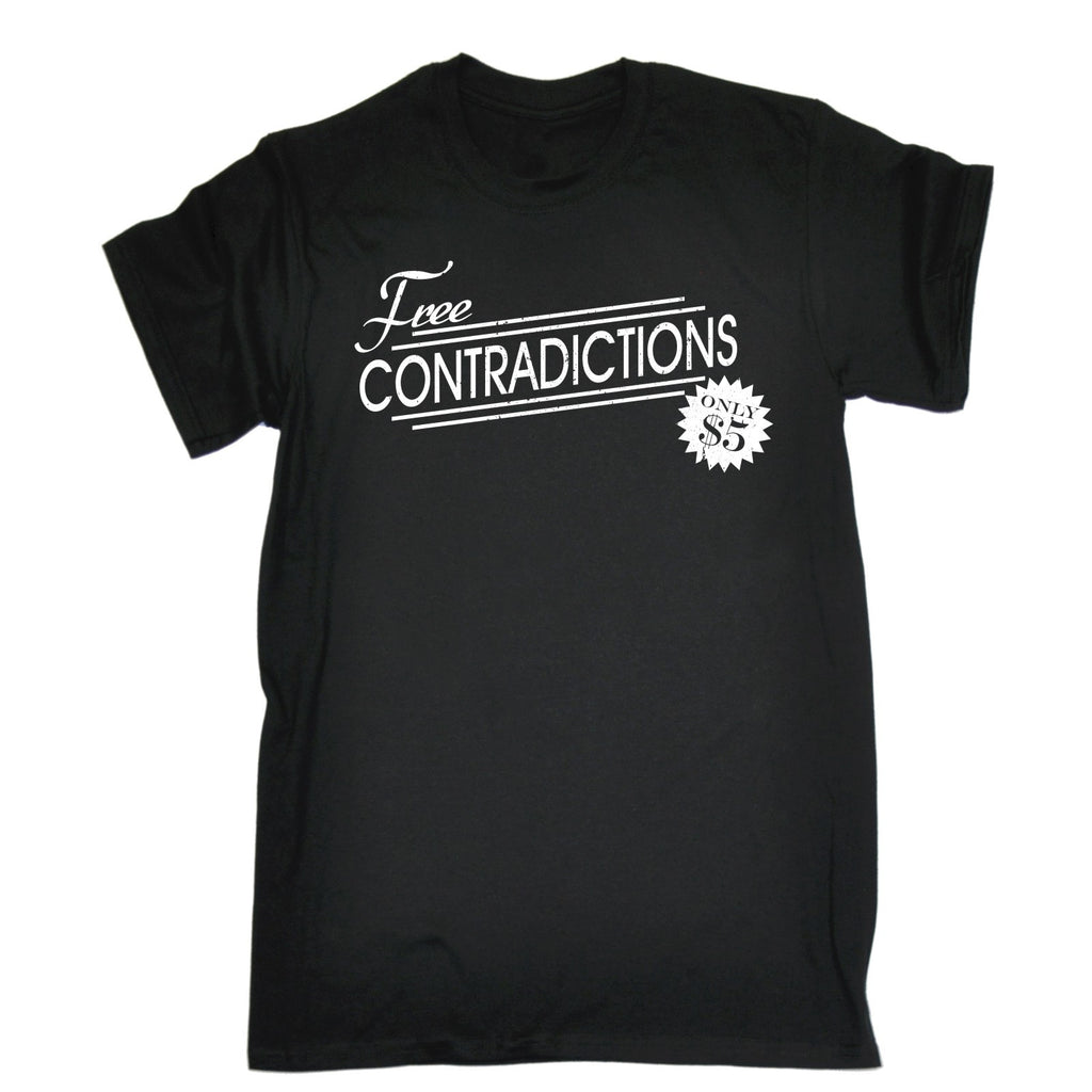 123t Men's Free Contradictions Only $5 Funny T-Shirt