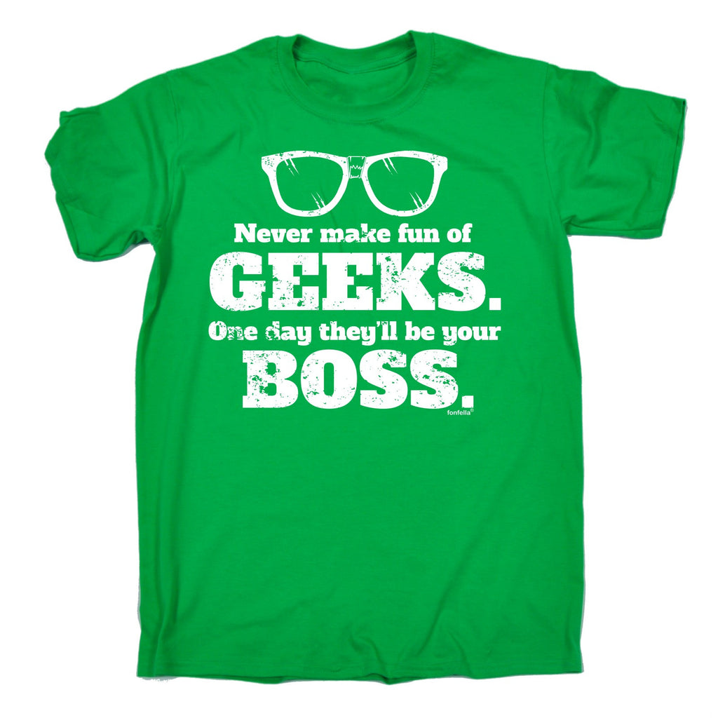 15851c8d0 Buy 123t Men's Never Make Fun Of Geeks … Be Your Boss Funny T-Shirt ...