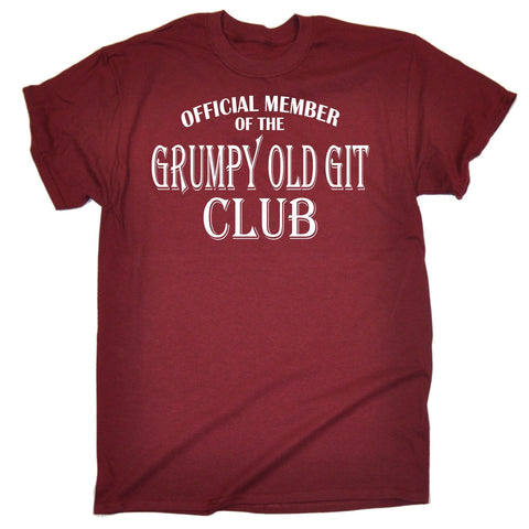 123t Men's Official Member Grumpy Old Git Club Funny T-Shirt