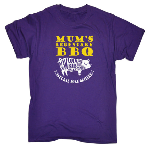 123t Men's Mum's Legendary Bbq Natural Born Griller Funny T-Shirt