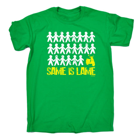 123t Men's Same Is Lame Scooter Funny T-Shirt