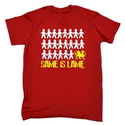 123t Men's Same Is Lame Wales Funny T-Shirt