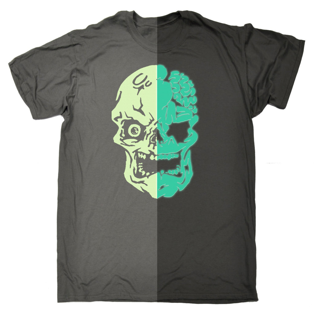 Buy 123t Men S Glow In The Dark Skull Funny T Shirt At 123t T Shirts