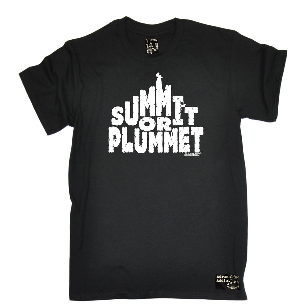 Adrenaline Addict Men's Summit Or Plummet Rock Climbing T-Shirt