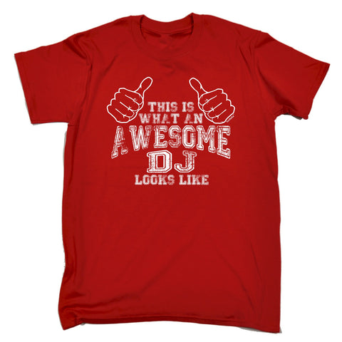 123t Men's This Is What An Awesome DJ Looks Like Funny T-Shirt