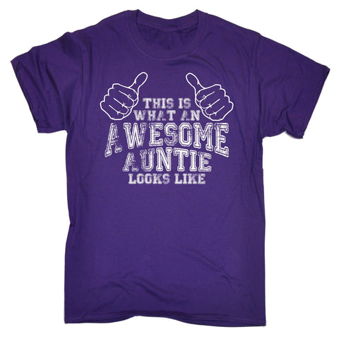 123t Men's This Is What An Awesome Auntie Looks Like Funny T-Shirt