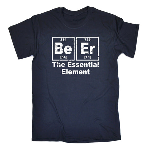 123t Men's Beer The Essential Element Periodic Table Funny T-Shirt