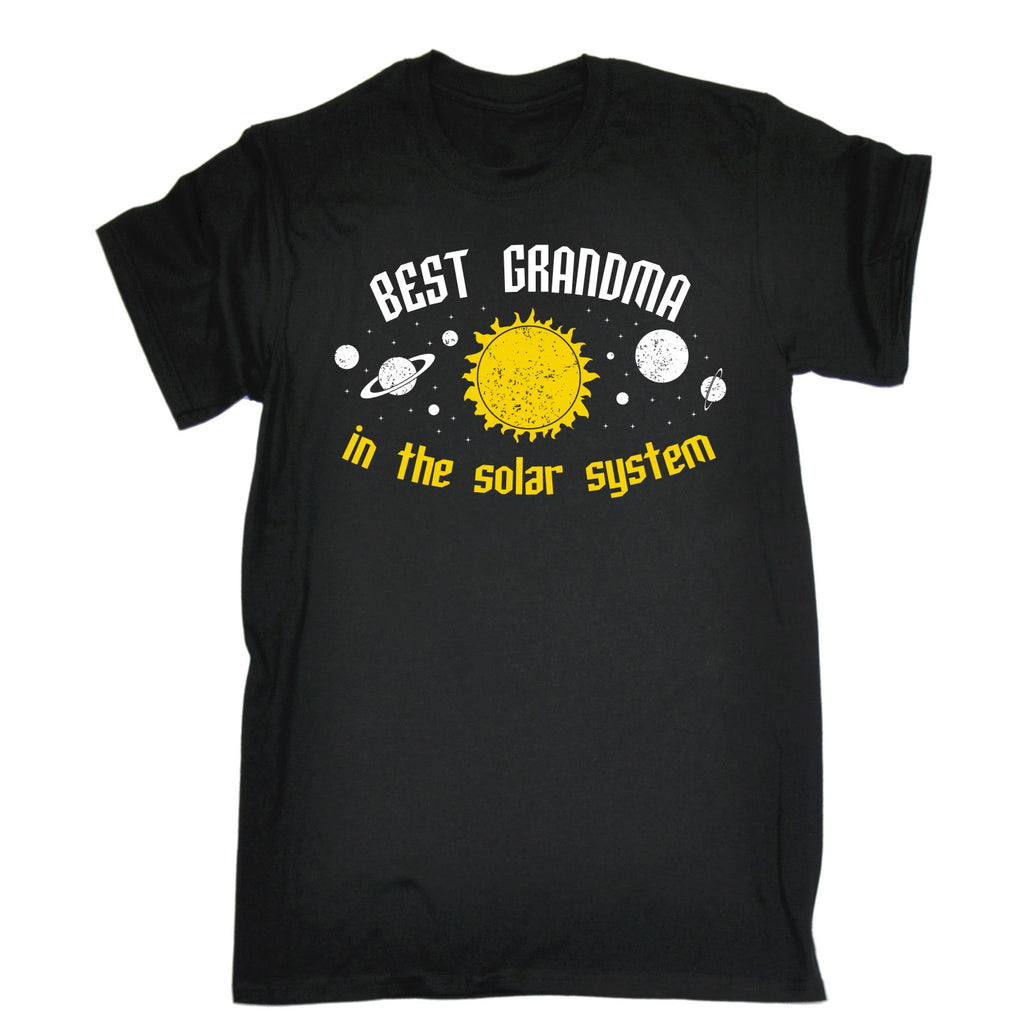 123t Men's Best Grandma In The Solar System Galaxy Design Funny T-Shirt, 123t