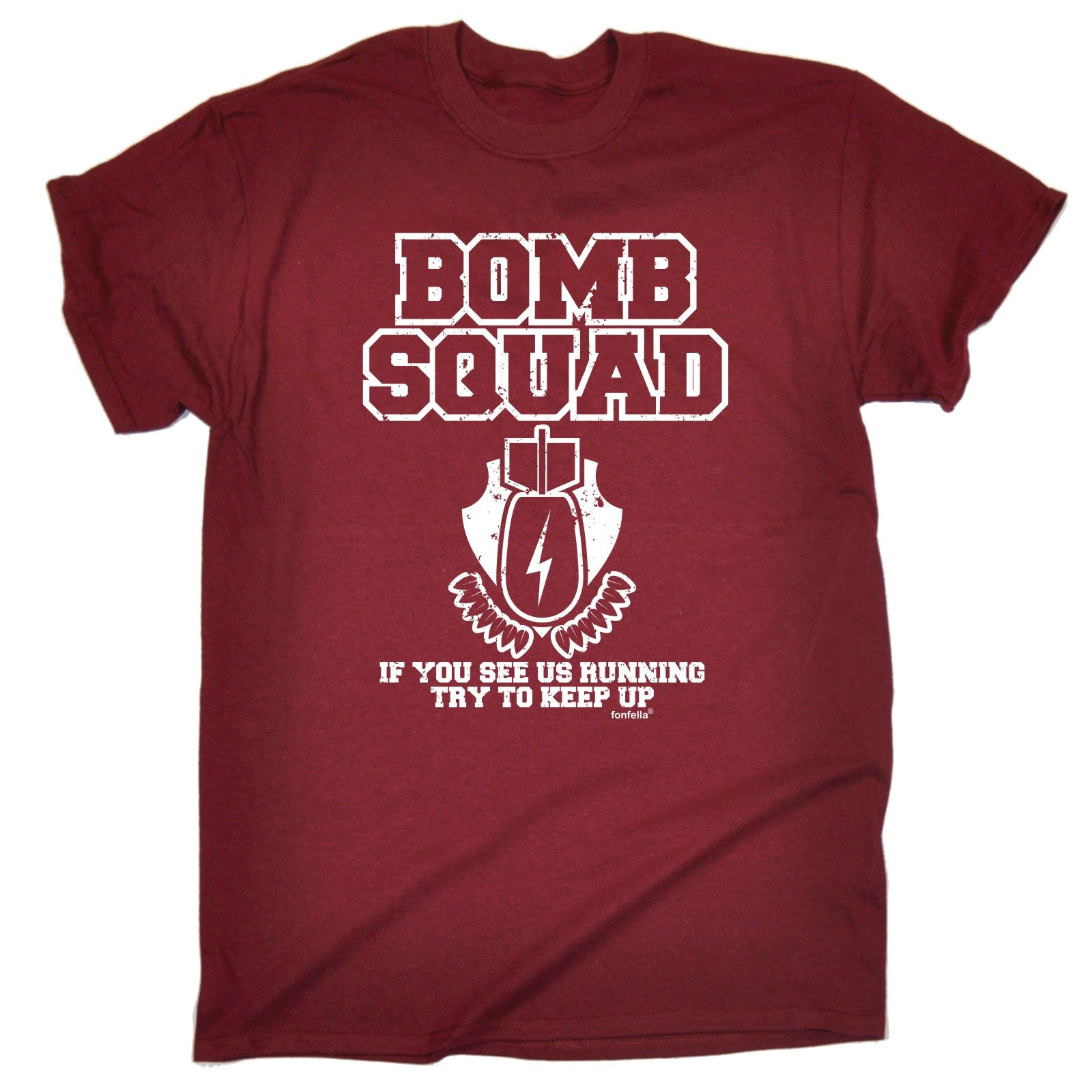 Details About BOMB SQUAD RUNNING TRY TO KEEP UP T SHIRT Tee Funny Birthday Gift Present Him