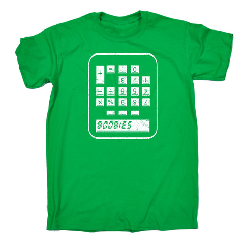 123t Men's Boobies Calculator Funny T-Shirt