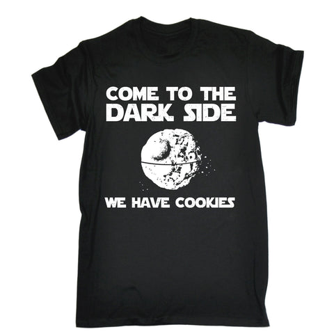 123t Men's Come To The Darkside We Have Cookies Funny T-Shirt