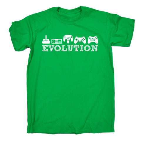 123t Men's Evolution Gaming Funny T-Shirt