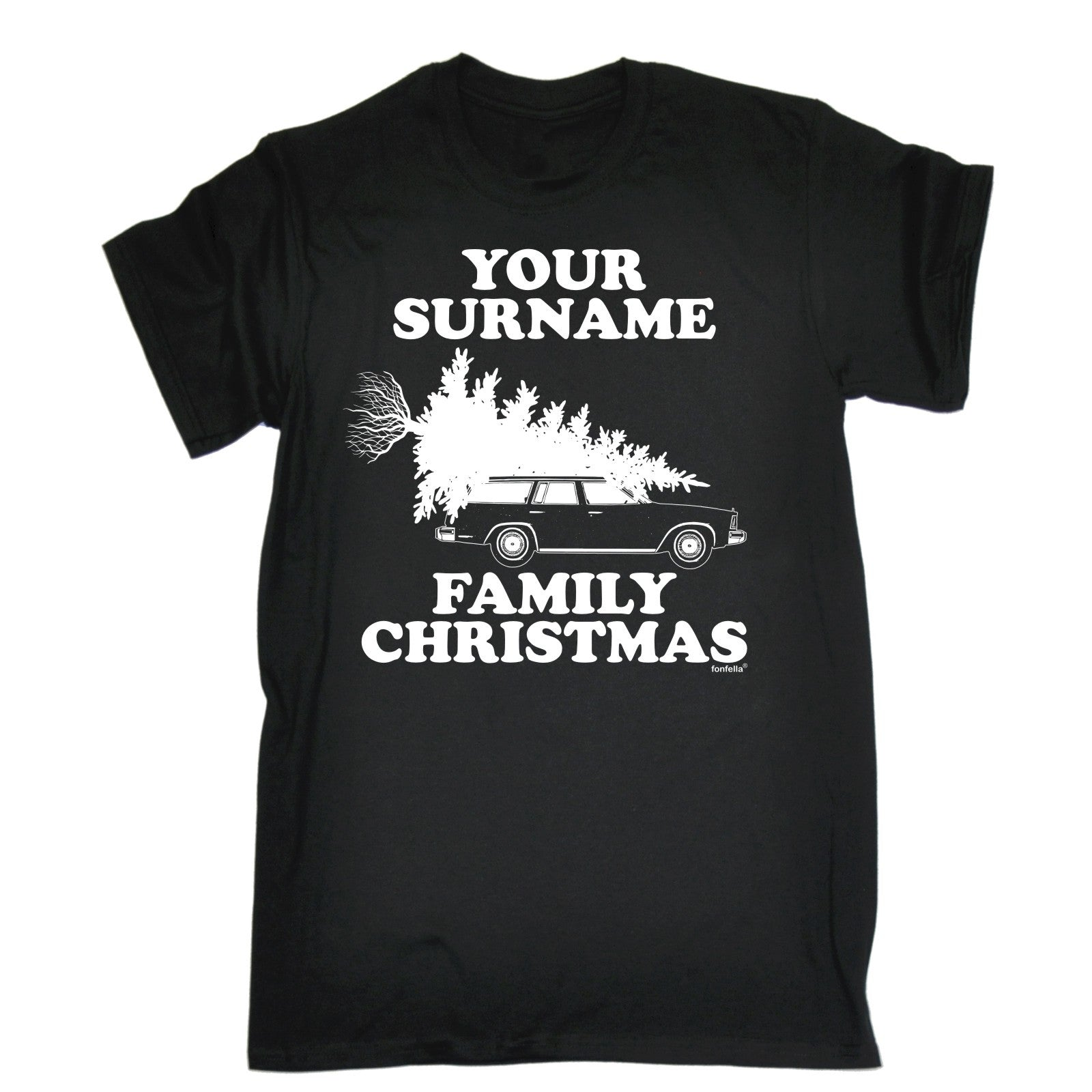 Design tshirt family - 123t Men S Your Personalised Surname Family Christmas Design Funny T Shirt