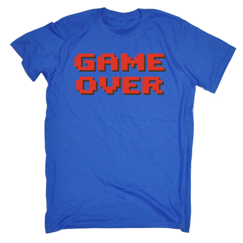 123t Men's Game Over ... Red Text Funny T-Shirt