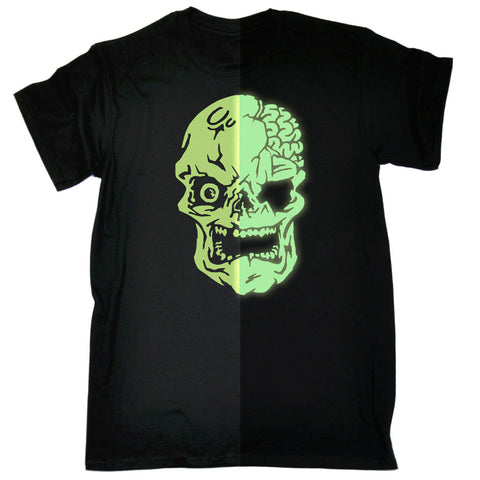 123t Men's Skull Design Glow In The Dark Funny T-Shirt