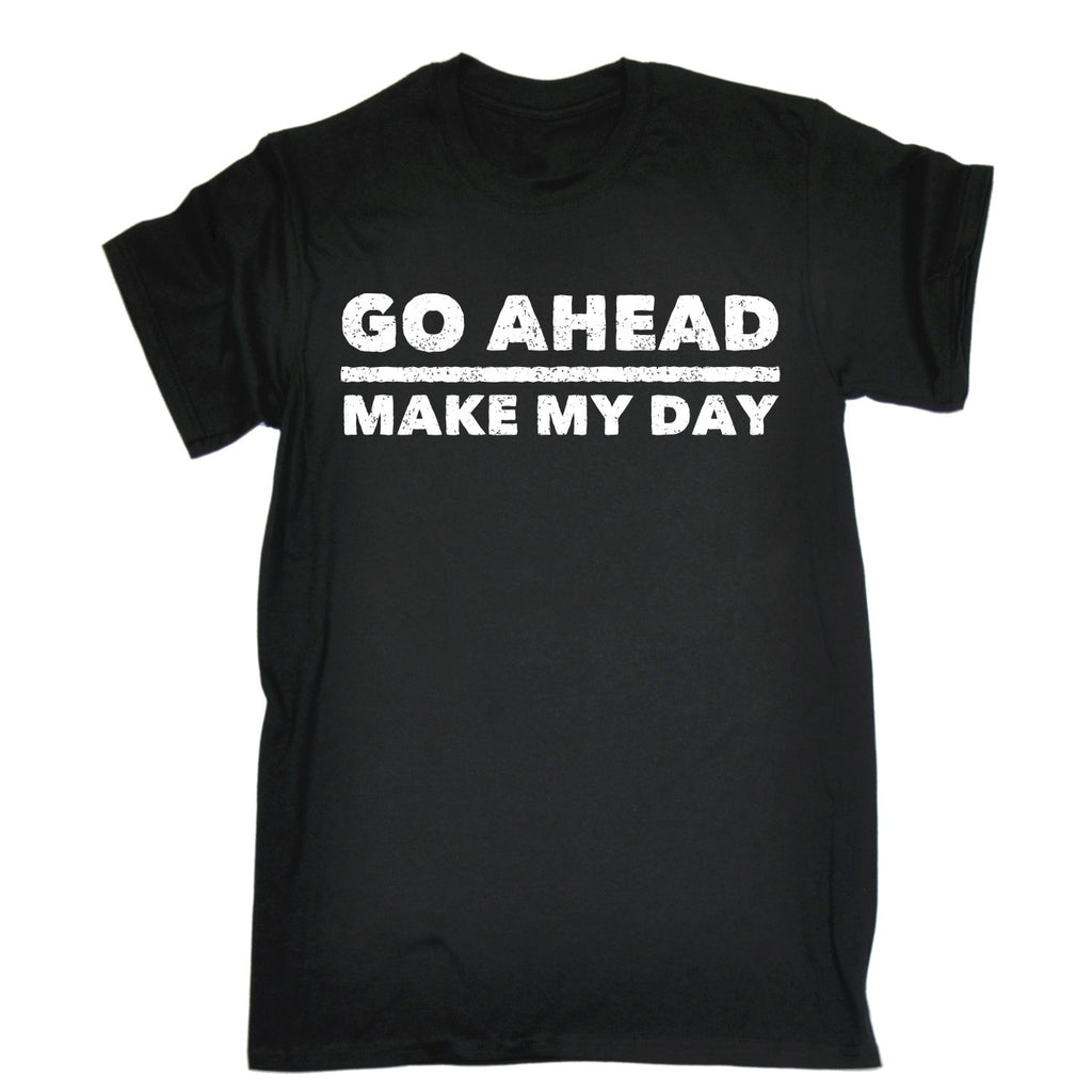 123t Men's Go Ahead Make My Day Design Funny T-Shirt