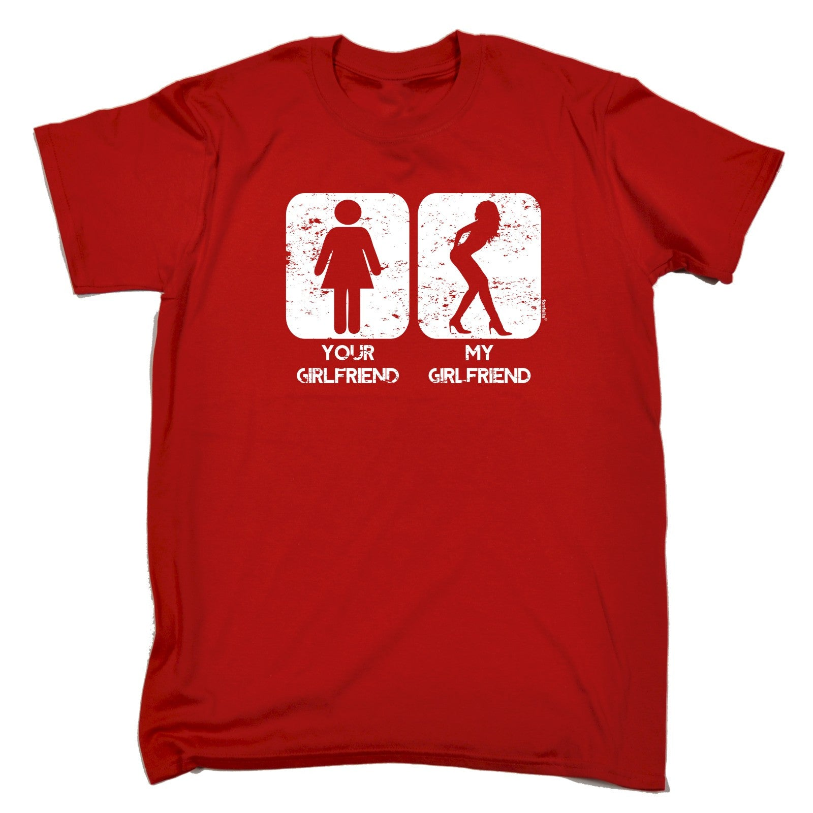 YOUR GIRLFRIEND MY GIRLFRIEND T SHIRT Tee Partner Funny Birthday