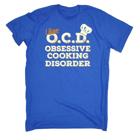 123t Men's I Have OCD Obsessive Cooking Disorder Funny T-Shirt