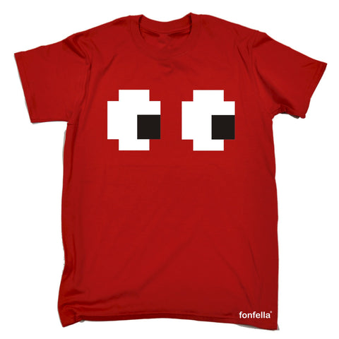 123t Men's Pixelated Eyes Design Funny T-Shirt