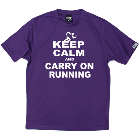 Men's Personal Best - Keep Calm And Run - Premium Dry Fit Breathable Sports T-SHIRT - Running jogging fitness gym tee top t shirt fashion clothing accessories