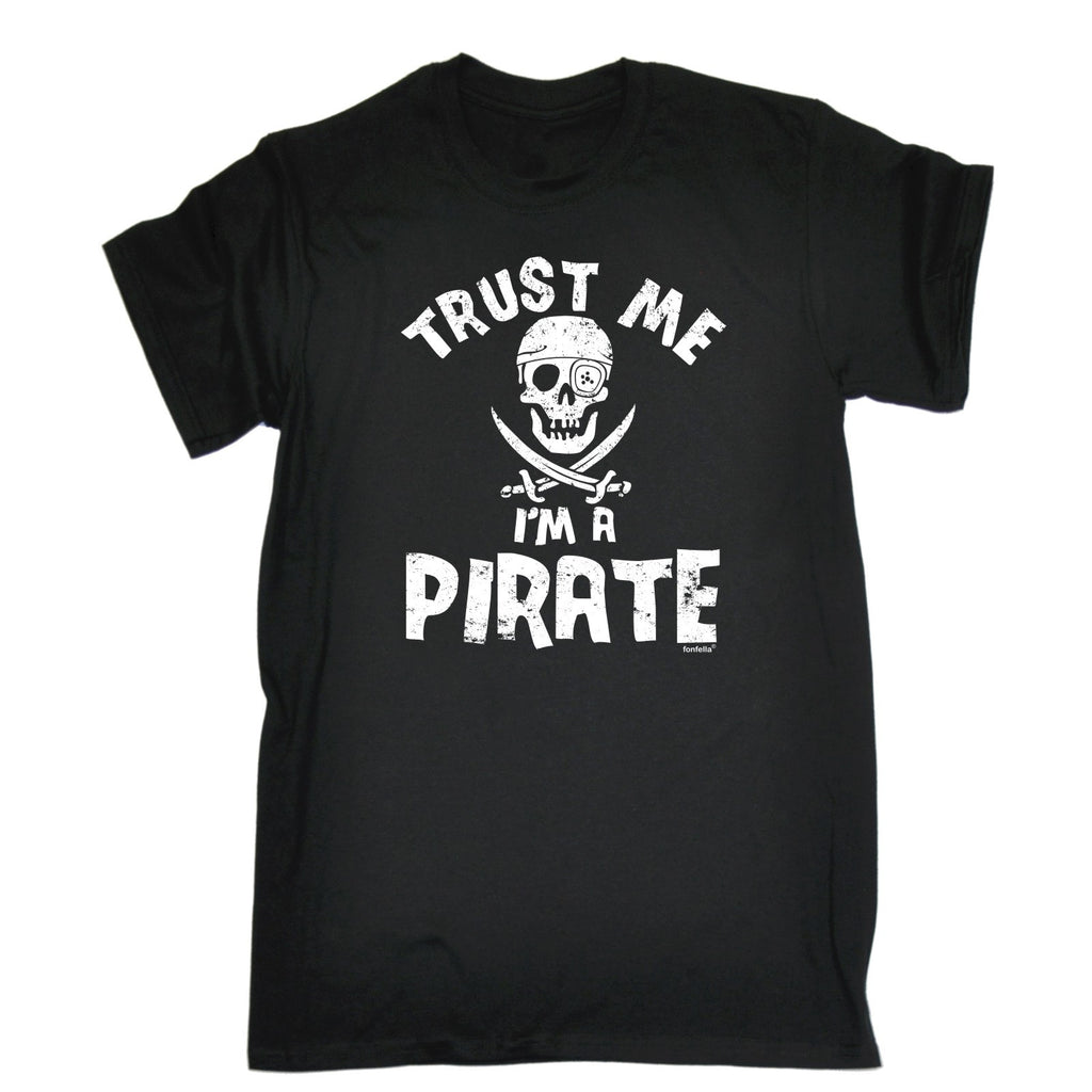 123t Men's Trust Me I'm A Pirate Funny T-Shirt