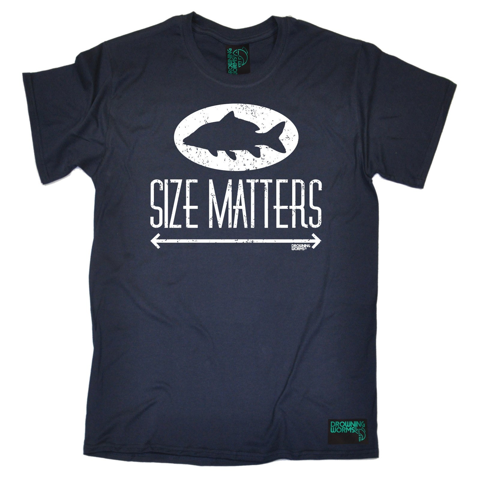 Size Matters MENS Drowning Worms T-SHIRT Tee Birthday