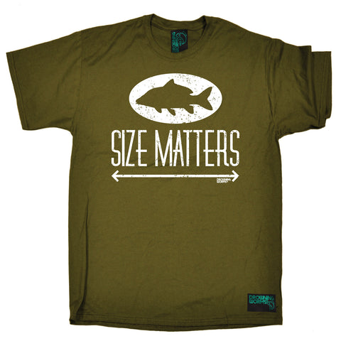 Drowning Worms Men's Size Matters Fishing T-Shirt