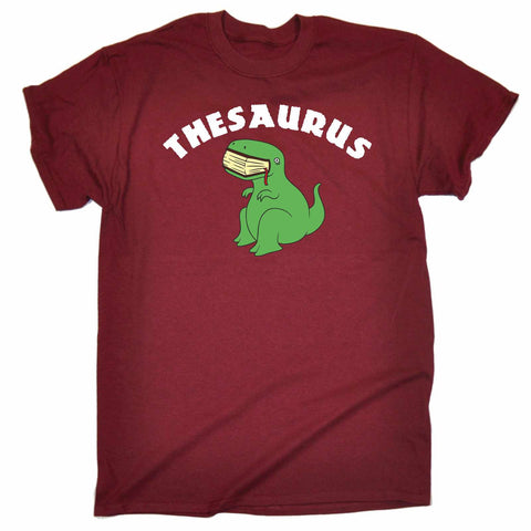 123t Men's Thesaurus T-Rex Eating Book Design Funny T-Shirt