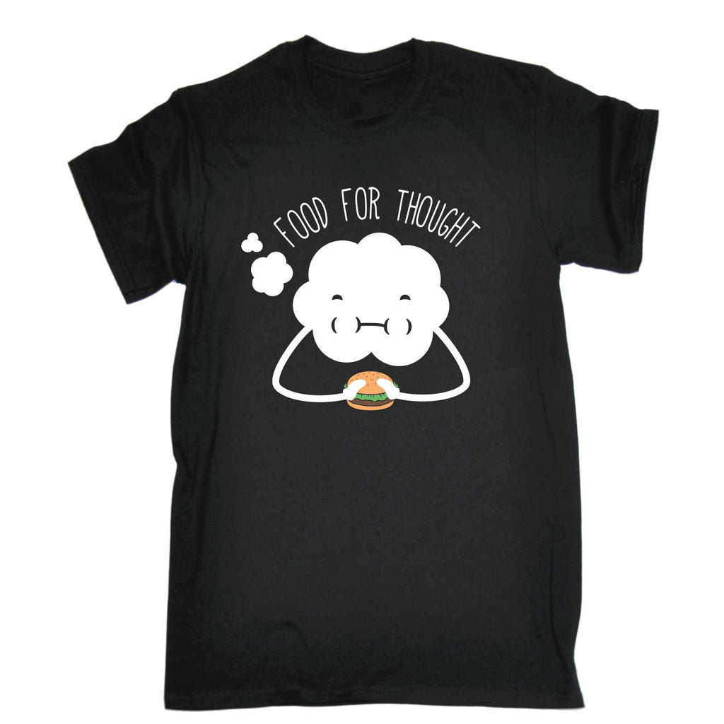 123t Men's Food For Thought Burger Cloud Design Funny T-Shirt