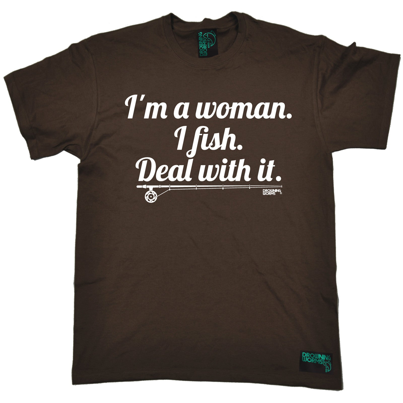 Im a woman i fish deal with it dw mens t shirt tee fishing for Funny fishing t shirts